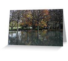 Autumnal Reflections, Korean War Memorial Pool Greeting Card