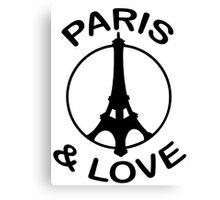Paris & Love (design made in january 2013 !) Canvas Print