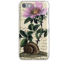 Vintage Flower and Snail iPhone Case/Skin