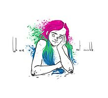 The polysexual flag. Photographic Print