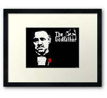 The Godfather - Acrylic Painting Framed Print