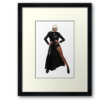 matrix model Framed Print