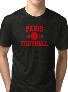 Paris Football Athletic College Style 2 Color Tri-blend T-Shirt