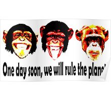 monkeys will rule the planet Poster