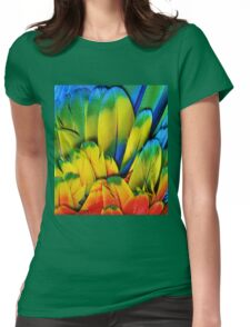 Parrot Feathers Womens Fitted T-Shirt