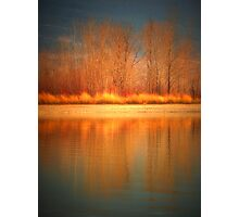 Reflections on Fire Photographic Print