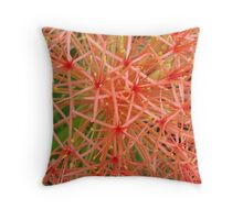 Red Ball-(Floral Macro) Throw Pillow