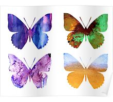 Watercolor Butterflies 2 Poster