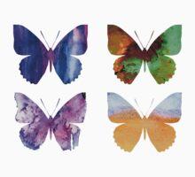 Watercolor Butterflies 2 Baby Tee