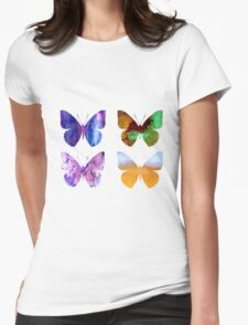 Watercolor Butterflies 2 Womens Fitted T-Shirt