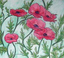 Red Poppies III by Alexandra Felgate