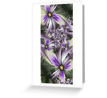 Flower touch Greeting Card
