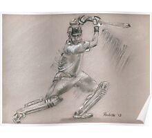 Sachin Tendulkar - batting stance Poster