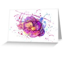 Watercolor Flower Greeting Card