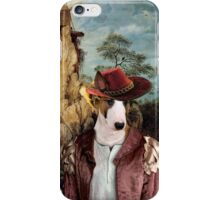 Bull Terrier Art - The strange windmill iPhone Case/Skin