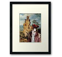 Bull Terrier Art - The strange windmill Framed Print