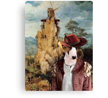 Bull Terrier Art - The strange windmill Canvas Print