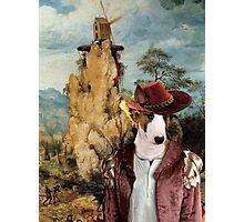 Bull Terrier Art - The strange windmill Photographic Print