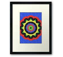 Colorful kaleidoscope cool pattern Framed Print
