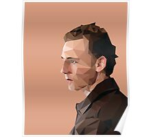 Tom Hiddleston - Low Poly Poster