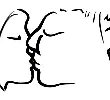 The Kiss -(180515)- Digital art: iPad/Zen Brush App by paulramnora
