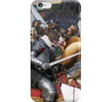 Bull Terrier Art - King's Knight in the battle iPhone Case/Skin