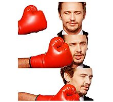 James Franco gets the humor knocked out of him Photographic Print