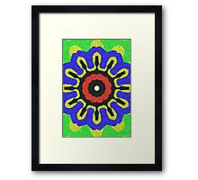 Abstract modern colorful pattern Framed Print