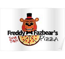 Modern Five Nights at Freddy's Logo (Possessed Version) Poster