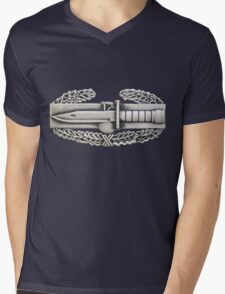 Combat Action Badge Mens V-Neck T-Shirt