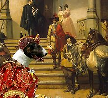 Bull Terrier Art - Scene from Musketeers Life by NobilityDogs
