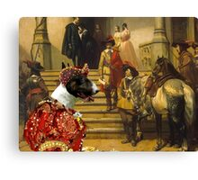 Bull Terrier Art - Scene from Musketeers Life Canvas Print