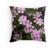 Pink Flower Spiral-(Floral Macro) Throw Pillow
