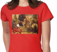 Bull Terrier Art - Scene from Musketeers Life Womens Fitted T-Shirt