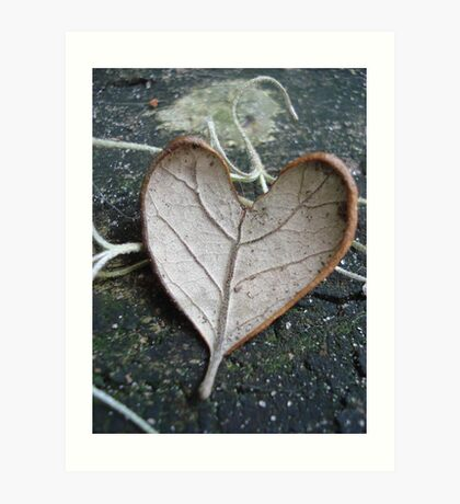 "The ""I Love You"" Leaf Art Print"