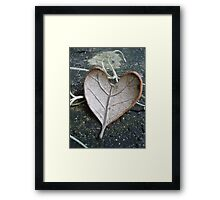 "The ""I Love You"" Leaf Framed Print"