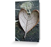 "The ""I Love You"" Leaf Greeting Card"