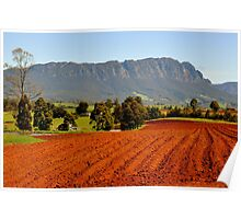 photoj Tas, Mt Roland Farm Land Poster