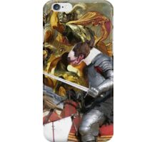 Bull Terrier Art - The final battle iPhone Case/Skin