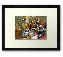 Bull Terrier Art - The final battle Framed Print