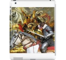 Bull Terrier Art - The final battle iPad Case/Skin