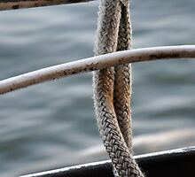 Boat rope through port hole on Island Cruise, Parry Sound Ontario by disciple18