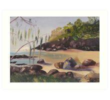 Froggy's Beach Art Print
