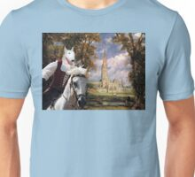 Bull Terrier Art - Salisbury Cathedral Unisex T-Shirt
