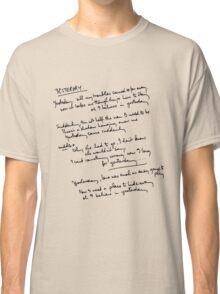 Yesterday Lyrics Classic T-Shirt