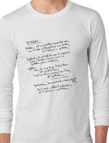 Yesterday Lyrics Long Sleeve T-Shirt