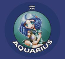 Chibi Schoolgirl Zodiac - Aquarius by Julia Lichty