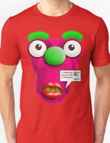 Funny Stomach Puppet - Stop staring at my Boobs! Unisex T-Shirt