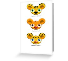 Little Big Cats Greeting Card