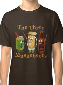 Funny Beer Pun Three Muskebeers Classic T-Shirt